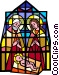 stained glass Jesus Vector Clipart illustration