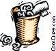 woodcut waste basket Vector Clip Art picture