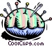 pin cushion Vector Clipart illustration