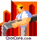 construction worker pouring Vector Clip Art graphic