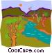 stream Vector Clip Art image