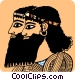 Two Egyptian men Vector Clipart picture
