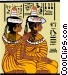 two Egyptian women Vector Clipart illustration