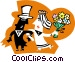 Man and woman getting married Vector Clip Art image