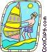 windsurfer Vector Clip Art picture