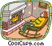 Sleeping in rocking chair Vector Clip Art picture
