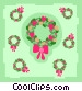 Christmas wreaths Vector Clipart graphic