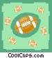 Many Footballs Vector Clipart image