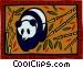 panda bear Vector Clip Art image