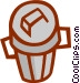 garbage can Vector Clip Art graphic