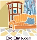 living room Vector Clipart picture