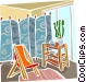 bedroom Vector Clipart graphic