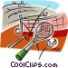 tennis racket Vector Clip Art graphic
