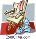 Chair and water bottles Vector Clip Art picture