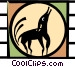 howling dog Vector Clipart illustration