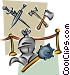 historic weapons Vector Clipart illustration