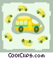 buses Vector Clipart picture
