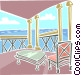Waterfront view Vector Clipart graphic
