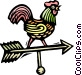 Wind direction rooster Vector Clipart graphic
