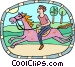 horseback rider Vector Clip Art graphic