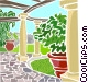 Outdoor patio Vector Clipart graphic