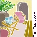 house interior Vector Clipart illustration