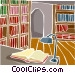 house interior study Vector Clipart illustration