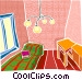 house interior Vector Clip Art image