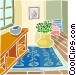 house interior Vector Clipart graphic