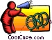 jumping through hoops Vector Clip Art image
