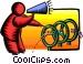 jumping through hoops Vector Clip Art image