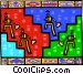 climbing to the top Vector Clipart picture
