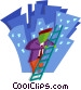 business / climbing the Vector Clipart picture