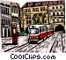 Streetcar Vector Clipart illustration
