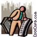 vertical markets Vector Clip Art image
