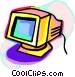 Computer monitor Vector Clip Art image
