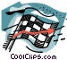 business / winning the race Vector Clipart picture