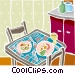 food and dining Vector Clipart graphic