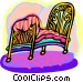 bed Vector Clipart illustration
