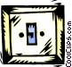light switch Vector Clip Art graphic