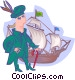 Columbus with ship Vector Clipart picture