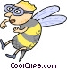 bee person Vector Clipart picture