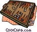 backgammon Vector Clipart illustration