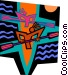 paddling Vector Clip Art image