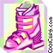 ski boot Vector Clip Art picture