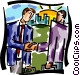businessmen shaking hands Vector Clipart graphic