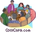 meeting at a boardroom table Vector Clipart illustration