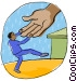 helping hand Vector Clipart illustration