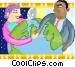 shaking hands around the world Vector Clipart illustration