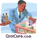 human resources throughout a business Vector Clipart illustration